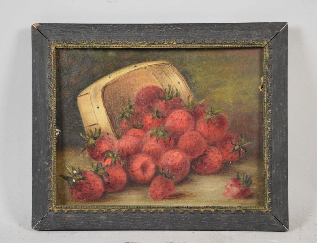 ARTIST UNKNOWN (19TH/20TH CENTURY). Strawberries in a