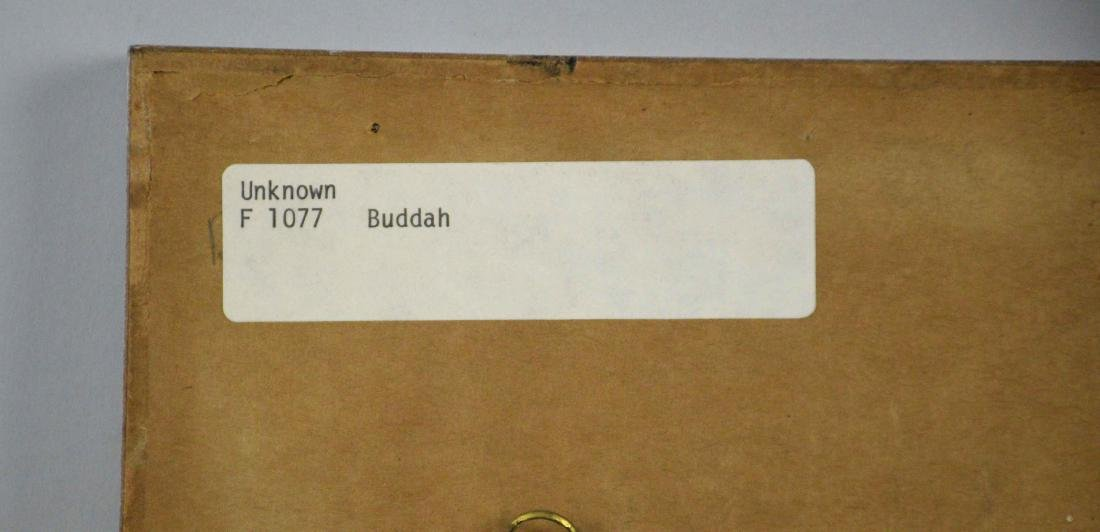ARTIST UNKNOWN (20TH CENTURY). Buddah. Watercolor and - 4
