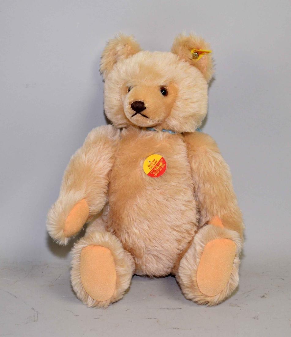 STEIFF BEAR (0201/41), blond mohair bear, original tags