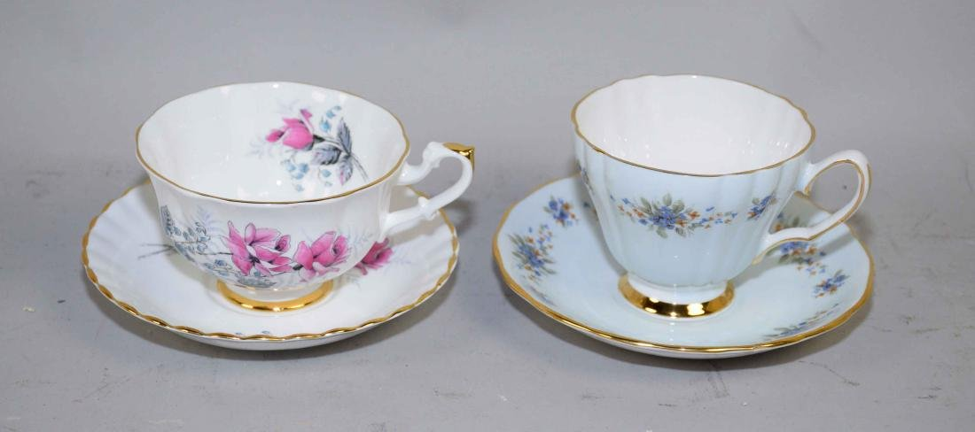 COLLECTION OF FINE BONE CHINA CUPS AND SAUCERS. - 3