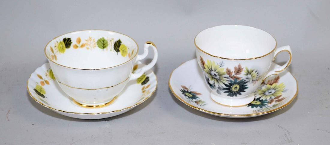 COLLECTION OF FINE BONE CHINA CUPS AND SAUCERS. - 4