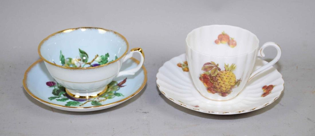 COLLECTION OF FINE BONE CHINA CUPS AND SAUCERS. - 5