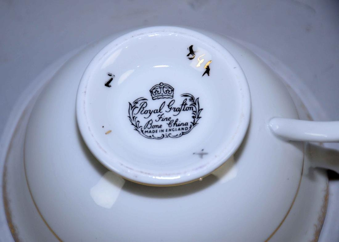 COLLECTION OF FINE BONE CHINA CUPS AND SAUCERS. - 7