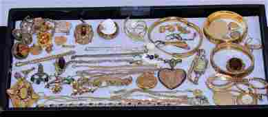30 ASSORTED PIECES OF VICTORIAN LADIES GOLD FILLED
