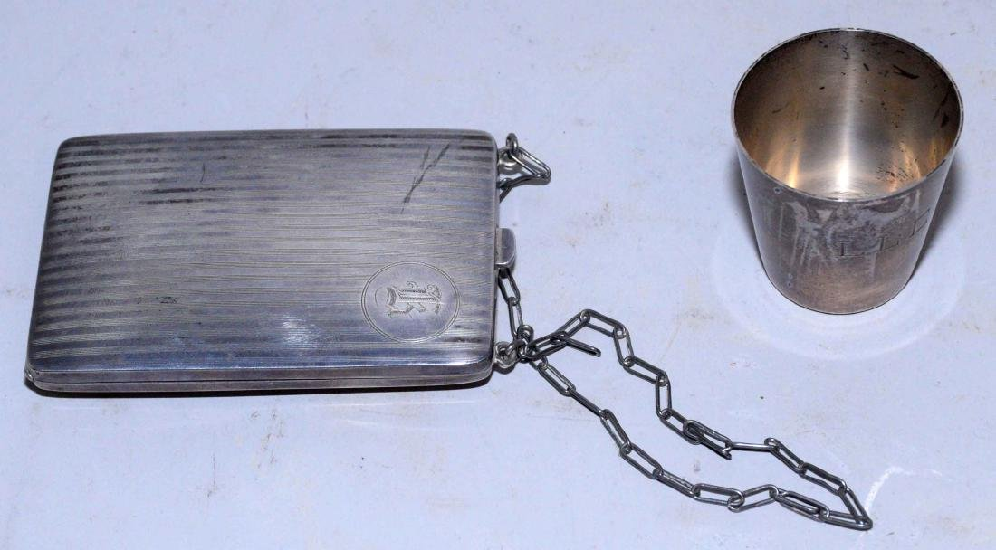 COLLECTION OF ASSORTED STERLING SILVER OBJECTS. - 11