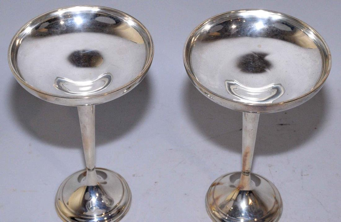 PAIR OF WEIGHTED STERLING COMPOTES. Sterling content - - 4
