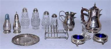A GROUP OF THIRTEEN MISC.ENGLISH STERLING TABLE