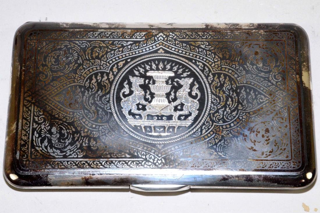THREE THAI CIGARETTE BOXES. Sterling, beautifully - 3