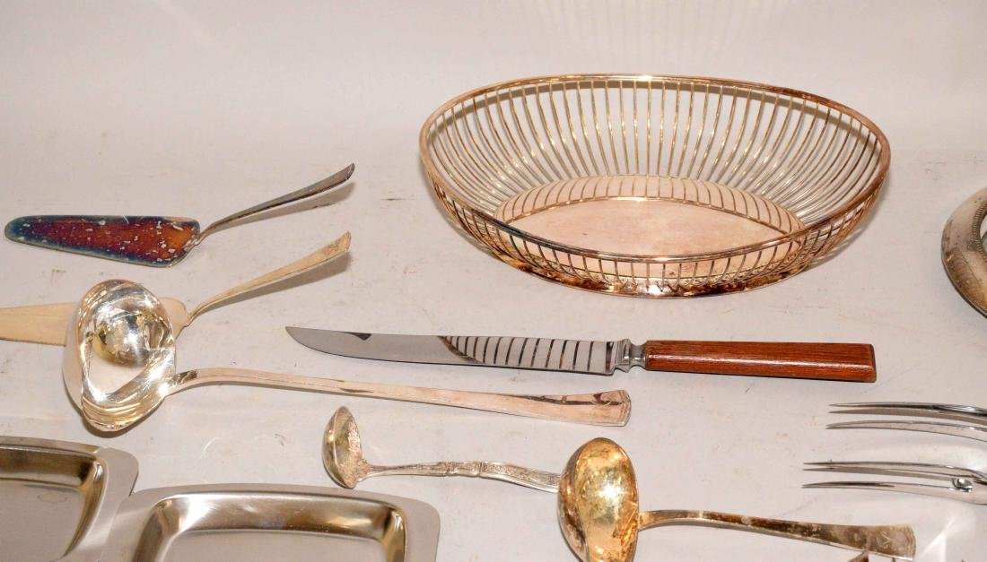 MISC. COLLECTION OF STERLING AND SILVERPLATE. - 3