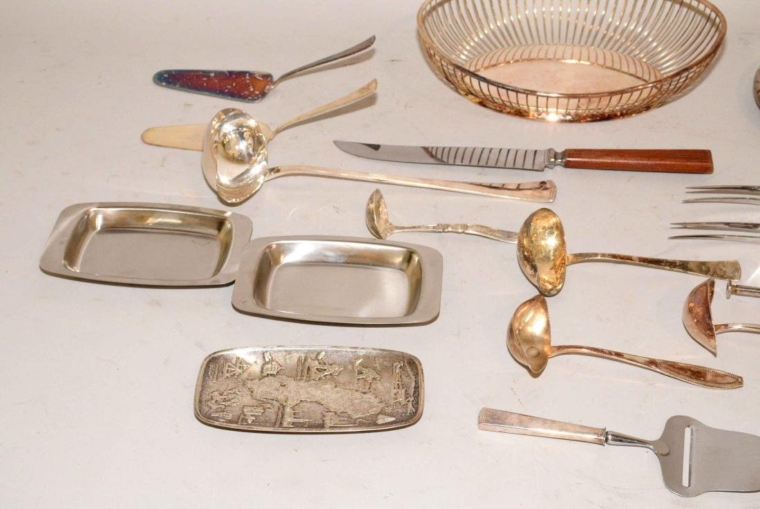 MISC. COLLECTION OF STERLING AND SILVERPLATE. - 4