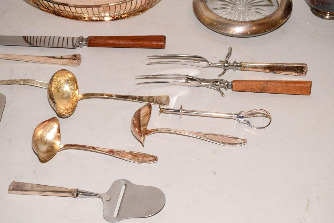 MISC. COLLECTION OF STERLING AND SILVERPLATE. - 5
