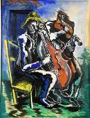 OSSIP ZADKINE (1890-1967). The Musicians. Signed and