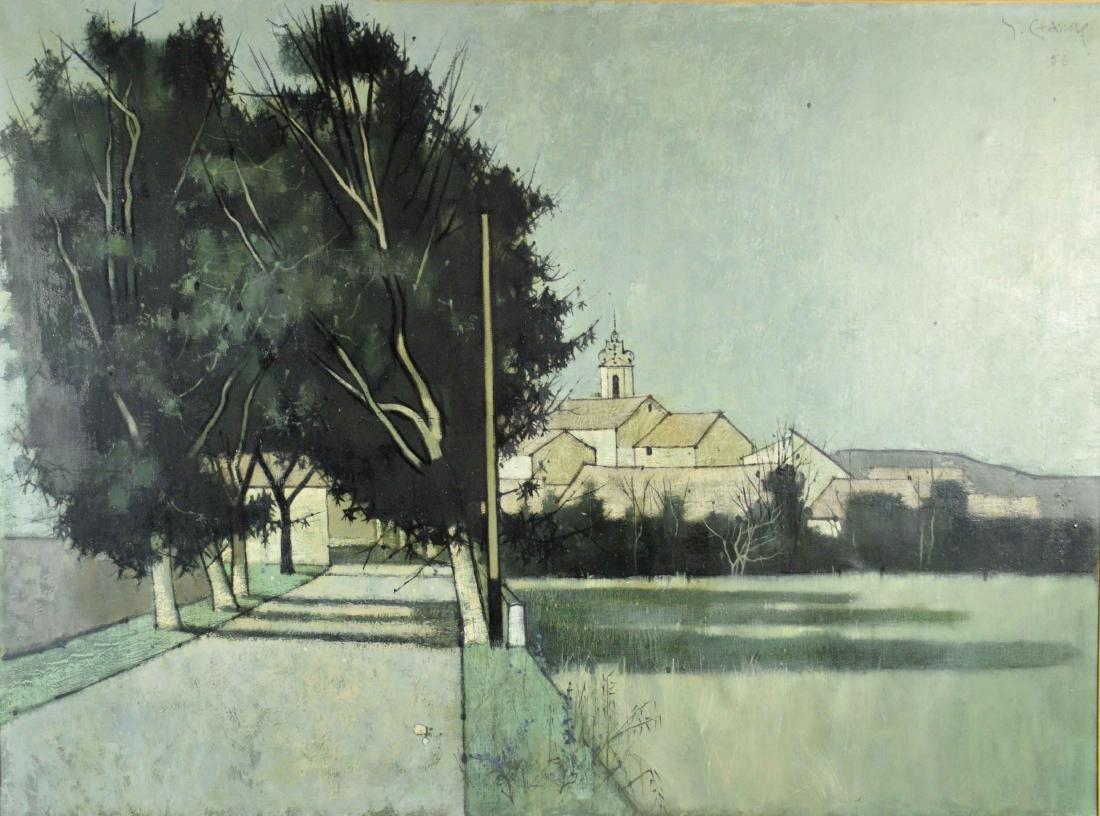 ARTIST UNKNOWN (20th Century). Serignan. Signed