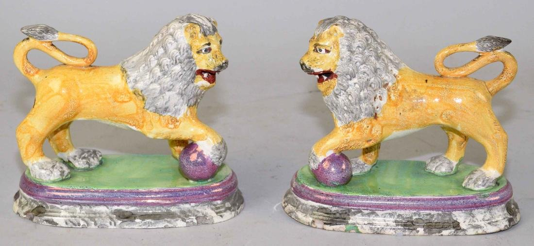 A PAIR OF ENGLISH (STAFFORDSHIRE) FIGURE OF MEDICI