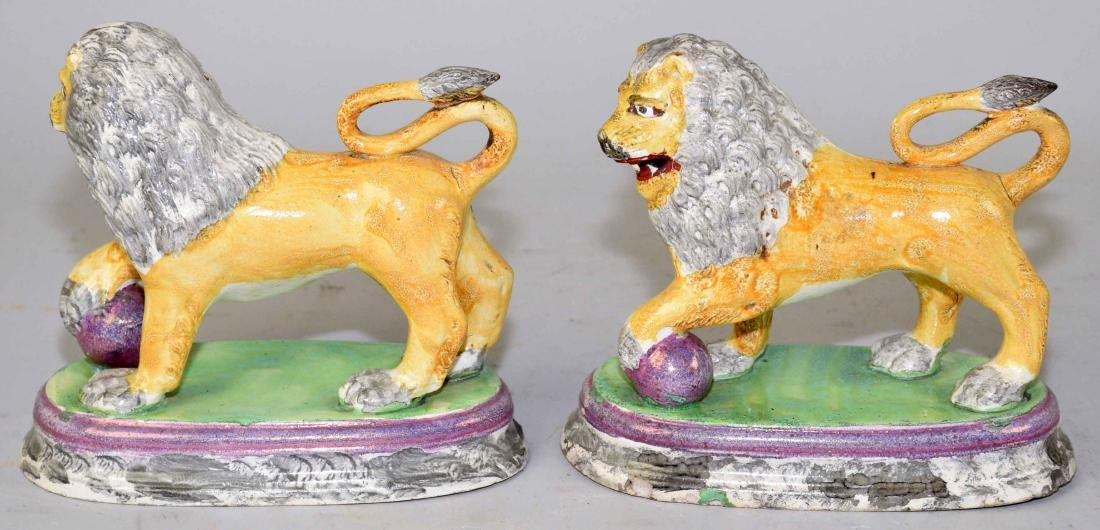 A PAIR OF ENGLISH (STAFFORDSHIRE) FIGURE OF MEDICI - 4