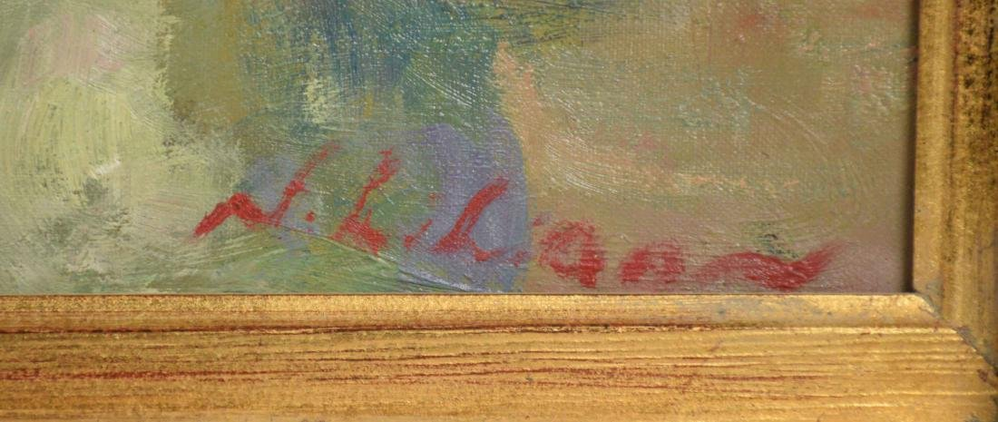 FLORAL STILL LIFE OIL ON CANVAS. Signed indistinctly, - 3