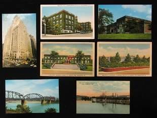 7 ALCOA RELATED POSTCARDS. (1) 1911 post card fea
