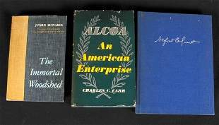 3 ALCOA RELATED BOOKS. (1) The Immortal Woodshed