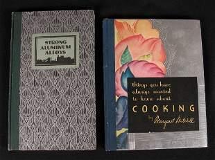 2 ART DECO ALUMINUM BOOKS. (1) Things You Have Al