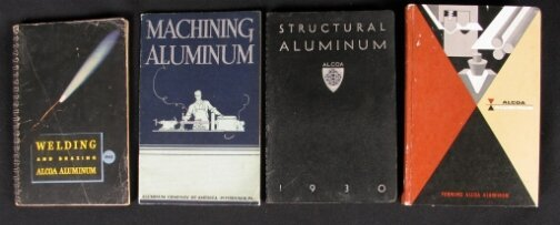 2042: 4 ALCOA BOOKLETS. (1) Machining Aluminum and its