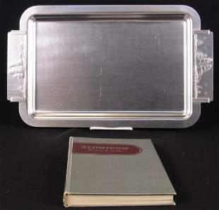 1938 ALUMINUM BOOK AND TRAY. (1) ''Aluminum: Its