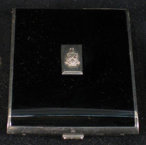 3003: ART DECO CIGARETTE CASE. Black enamel and chrome