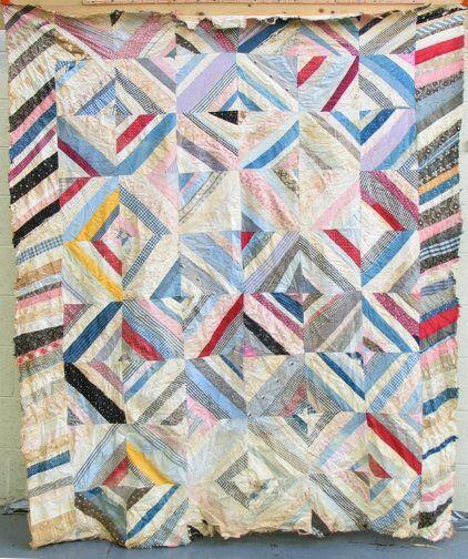 DIAMOND BLOCK QUILT. Vintage Diamond block quilt