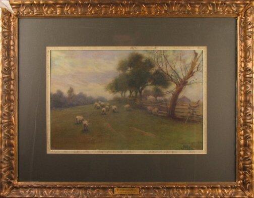 3011: JOHN WESLEY LITTLE WATERCOLOR.  Late 19th c/early
