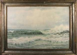 G.H. FLAVELLE SEASCAPE. 20th c. Watercolor on p