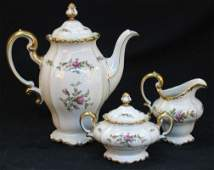3050 3 PC ROSENTHAL COFFEE SET Rococo style porcelain