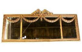 3192 ORNATE MIRROR  Three panel wood frame with gilt