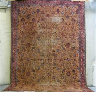PERSIAN RUG 12' x 20'. Large Persian style rug, t