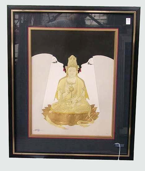 1003: OTSUKA BUDDHA PRINT. Otsuka, a Japanese