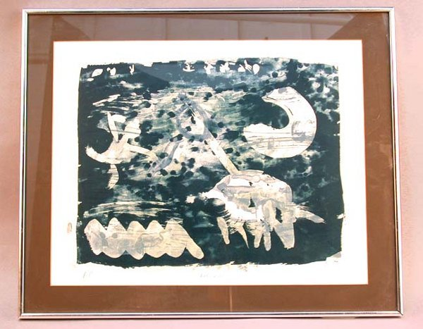 1022: ABSTRACT LITHOGRAPH. Same artist as lot