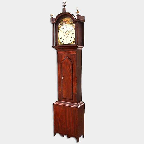 2005: 18TH CENT TALLCASE CLOCK. N/R. Illegibl