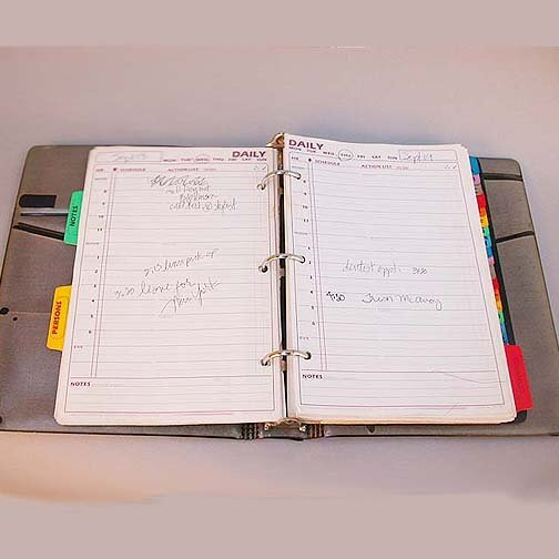 2174: MADONNA'S DAY PLANNER. Leather three pe