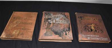 3 GUSTAVE DORE ILLUSTRATED BOOKS including Miltons
