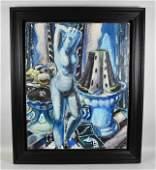 PAUL KLEINSCHMIDT ''BLUE NUDE.'' 1931. Oil on canvas.