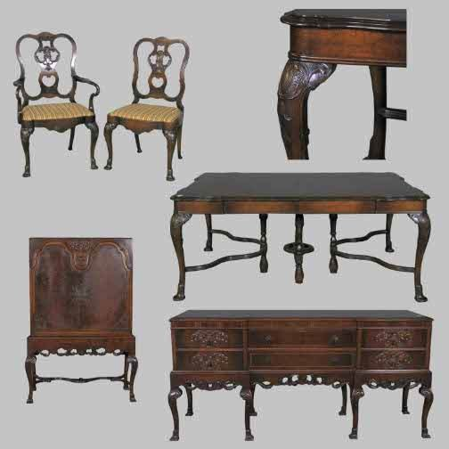 1265: EDWARDIAN ROYAL 9PC DINING SET