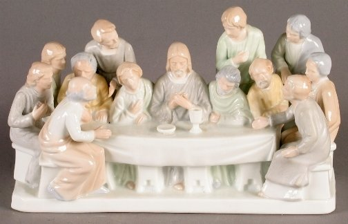 959: PORCELAIN LAST SUPPER GROUP