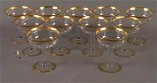 11 GOLD RIMMED GLASSES