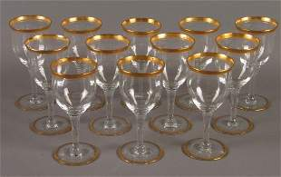 12 GOLD RIMMED GLASSES