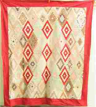 19TH C HAND MADE QUILT