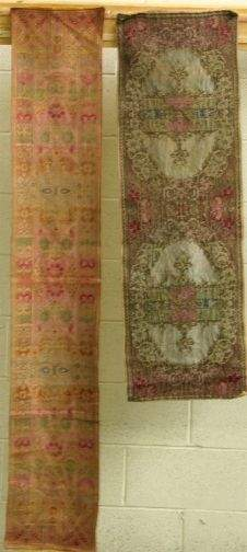 TWO TEXTILE RUNNERS.