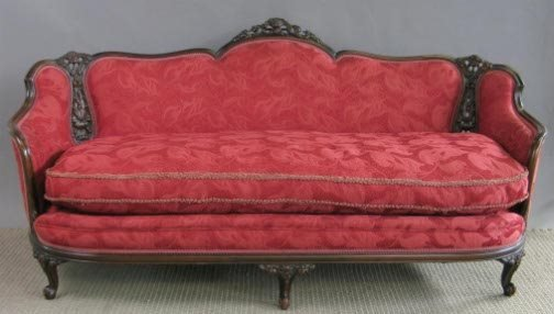 1857: CARVED /PIERCED SOFA AND CHAIR