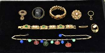 (14) PC. ASST. OF LADIES VICTORIAN COSTUME JEWELRY IN