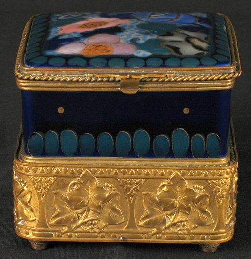 2750: FRENCH ART NOUVEAU MUSIC BOX