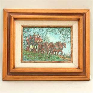 RONALD STEWART OIL. Signed lower right.