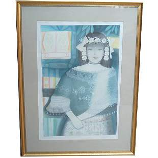 TROMPIZ: PORTRAIT OF GIRL. LITHO. N/R.