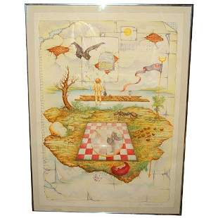 WOOD: THE HEAVENS ARE TELLING. LITHO. N